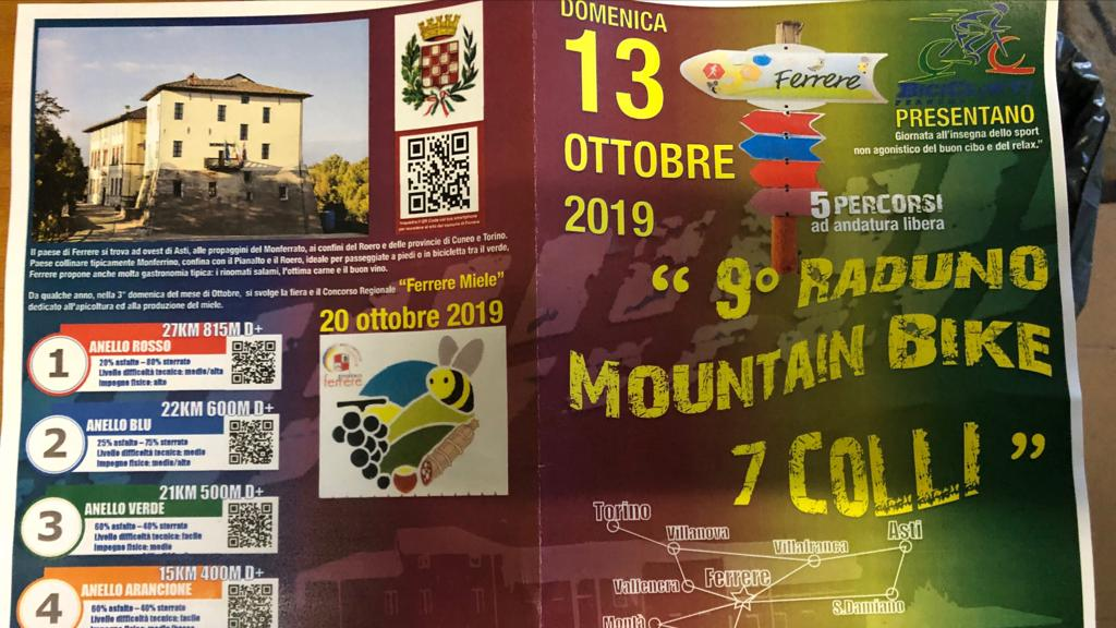 """9° RADUNO MOUNTAIN BIKE 7 COLLI"""